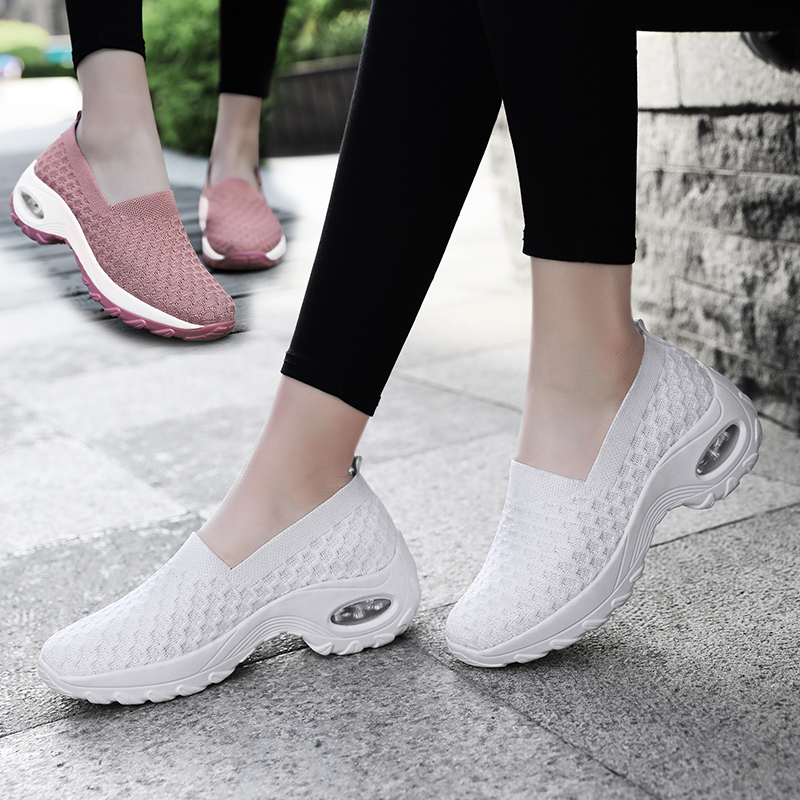 Women's Swing Sneakers Breathable Socks Sport Running Shoes Women Air Cushion Running Sneakers Woman Ladies Jogging Footwear
