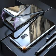 360 حافظة واقية لهاتف سامسونج جالاكسي S9 بلس نوت 9 8 A50 A70 A51 A71 نوت 9 S8 نوت 8 S9Plus غطاء مغناطيسي لكامل الجسم