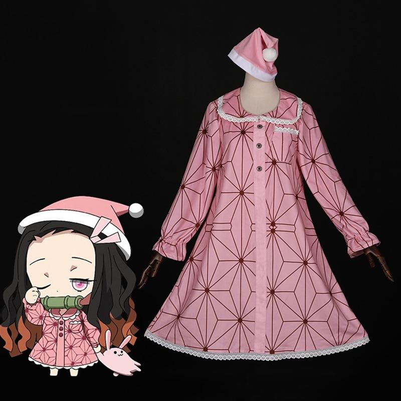 Аниме-комикс, убийца демона, Kimetsu No Yaiba, костюмы для косплея, Kamado Nezuko, костюм для косплея, пижамный комплект, комбинезон, одежда для отдыха