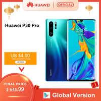 Global Version Huawei P30 Pro Smartphone 50x digital Zoom 8GB 256GB Quad Camera 6.47'' Full Screen OLED Kirin 980 Octa Core NFC