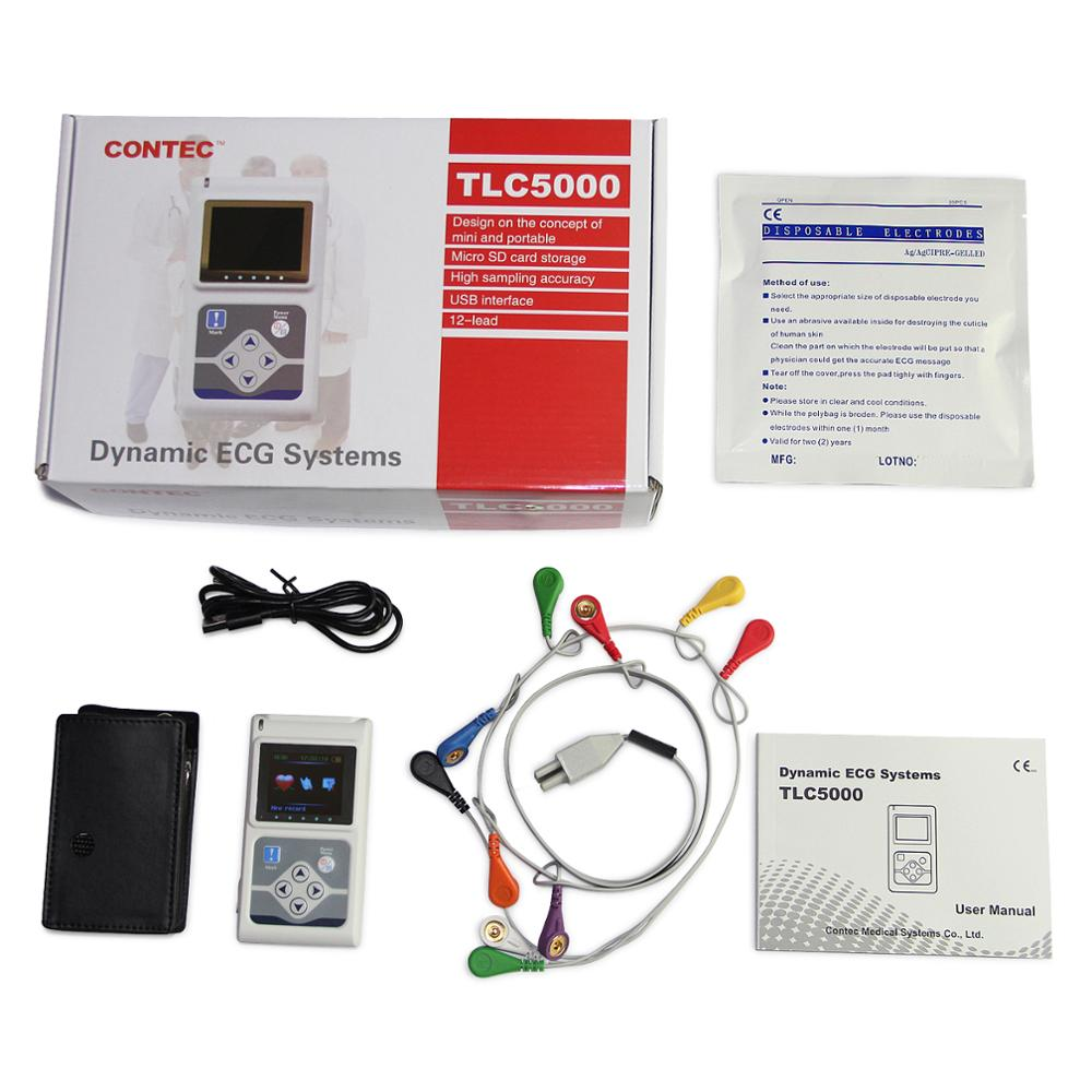 2020 Newest TLC5000 12 Channel ECG/EKG Holter System Recorder Monitor Software FDA