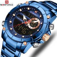 Mężczyzna zegarki NAVIFORCE Top marka mężczyzna mody zegarek sportowy wodoodporny luksusowy zegarek kwarcowy zegarek na rękę mężczyzna data zegar Relogio Masculino