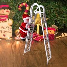 Прекрасные рождественские украшения с Сантой Клаусом, Электрический альпинистский подвесной Рождественский орнамент, игрушки, елочные украшения, забавные подарки для детей
