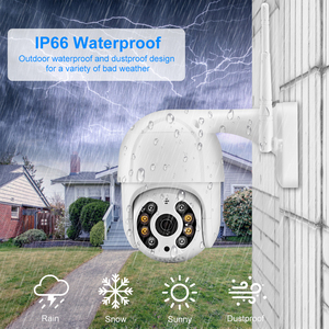 Image 5 - AZISHN 3MP PTZ كاميرا IP لاسلكية 4X التكبير الرقمي سرعة قبة 2 Way الصوت 1080P في الهواء الطلق مقاوم للماء واي فاي CCTV AI الكشف عن الإنسان