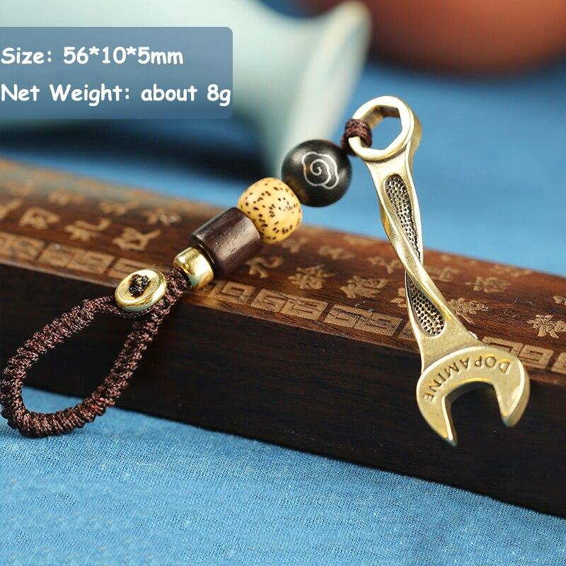 brass wrench rope key pendants (10)