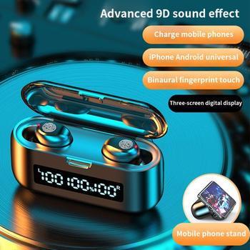 2000MAH Wireless Bluetooth Headset 5.0 Mini In Ear Sports Running Super Long Standby IPX7 Waterprof