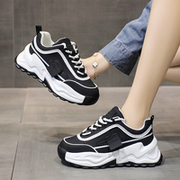 2021 Spring Autumn Women's Sports Shoes Fashion Breathable Sneakers 2021 Soft Sole Outdoor Casual Shoes Platform Running Shoes 1