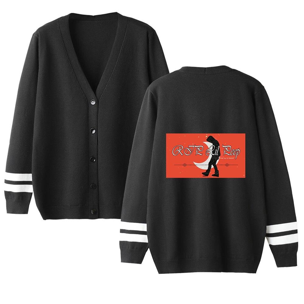 Lil Peep Cardigan Sweater Men/women Aikooki Hot Fashion Print Casual Harajuku Sweater Lil Peep Popular V-neck Sweater Casual Top