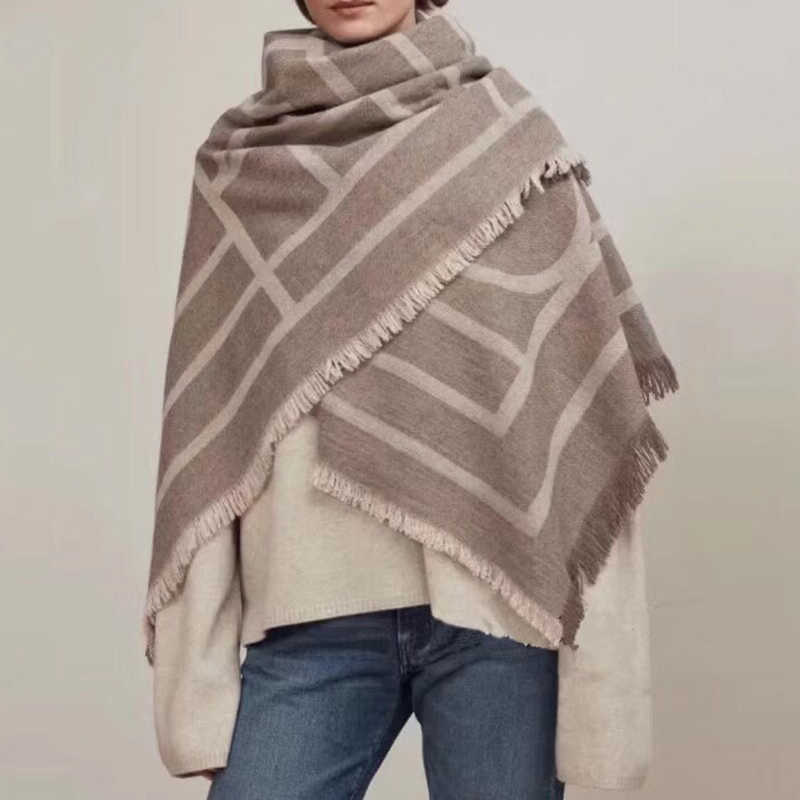 High Quality  Cashmere Scarf 150CM Big ScarfS Classic Coat Autumn Winter  Shawl Scarf