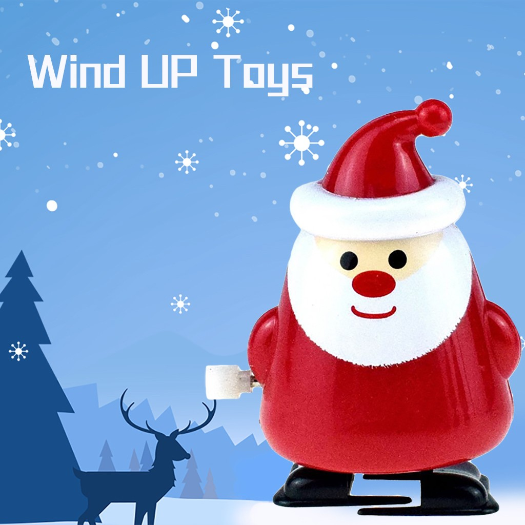 New Santa Claus Wind Up Walking Collectible Tin Toys Vintage Birthday Xmas Gift