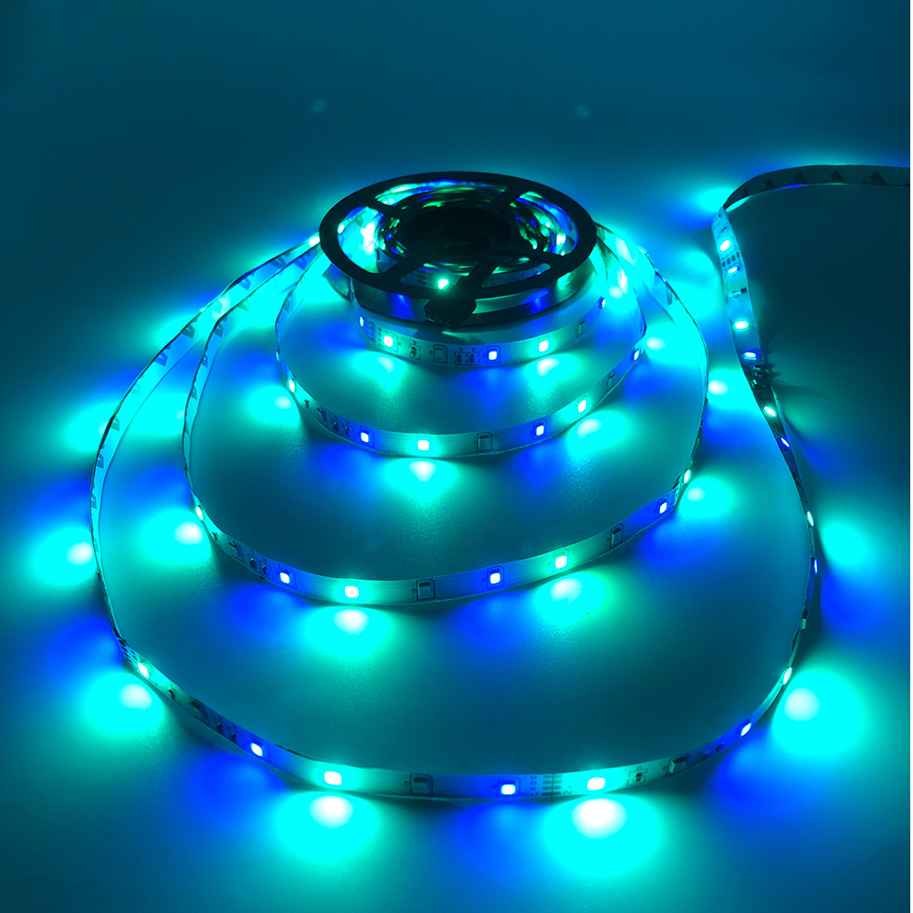 H50c03217e08c4e4d8b0d34dd422d03feZ - 5m 2835 3528 LED Strip Desk Lamp RGB White Red Green Blue Yellow 300Leds IR Remote Controller Holiday Light Night Garden Light