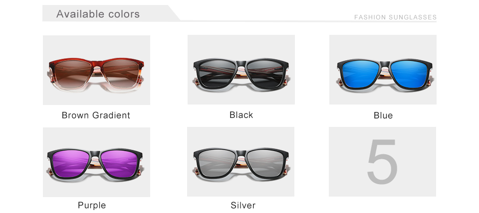 Genuine KINGSEVEN New Fashion Trend Design Women Sunglasses Men Gradient Multi Color Natural Wood Mirror Lens Sun Glasses Oculos