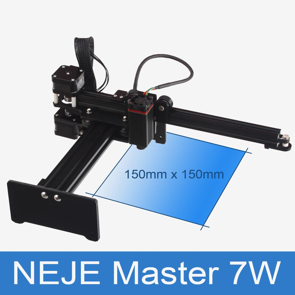 Neje mestre 7 w de alta velocidade mini cnc gravador a laser para gravação a laser de metal máquina de gravura de corte a laser