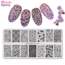 BeautyBigBang 6*12cm Fashion Flowers Design Nail Stamping Plates For Art Accessories XL-031-065 Nails Template