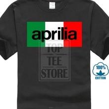 Aprilia Italia bandera MenBlack T Shirt camisetas ropa Cool Xxxtentacion camiseta Retro Vintage clásico camiseta