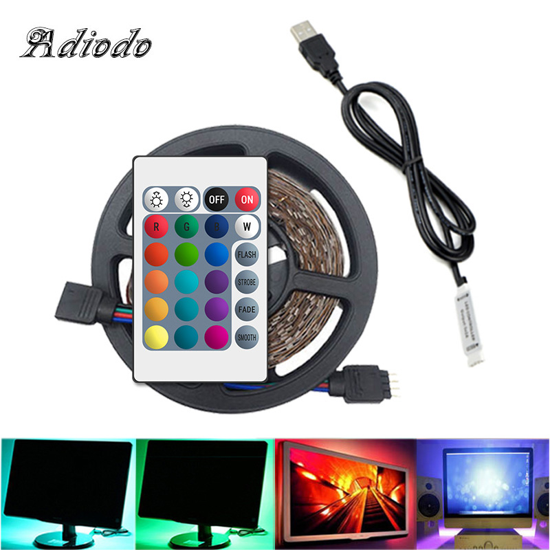 5V USB LED Strip Lamp 2835SMD Waterproof/non-waterproof Self Adhesive Flexible LED Lighting(RGB/White/Warm White)