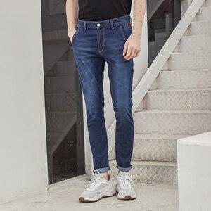 Image 5 - Metersbonwe Straight Jeans Mannen Lente Herfst Nieuwe Casual Jeugd Trend Slanke Jeans Heren Broek Mannen Broek