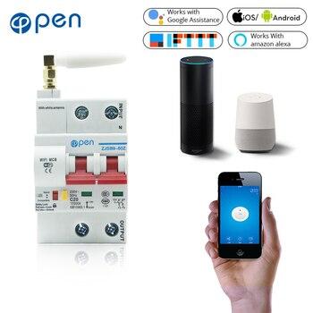 Открытый 2P Пульт дистанционного управления Wifi автоматический выключатель/умный выключатель/Интеллектуальная автоматическая защита от пе