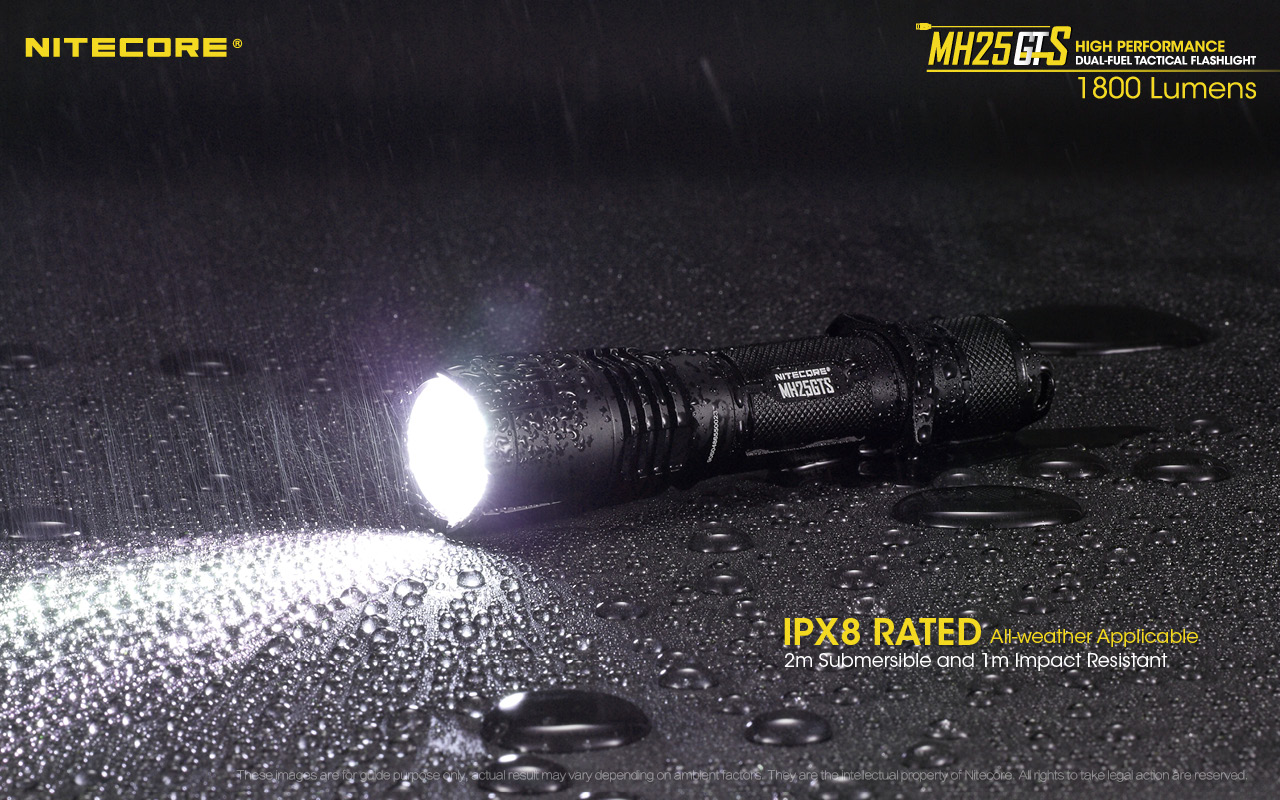 Nitecore mh25gts lanterna tática usb recarregável de