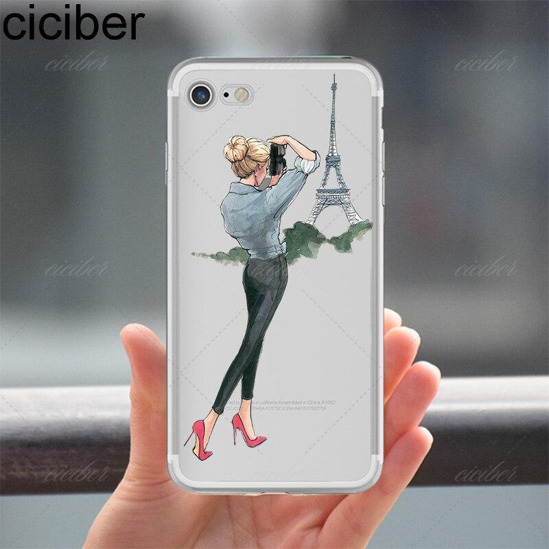 ciciber Luxury Fashion Travel Vacker shopping Girl Design mjuk - Reservdelar och tillbehör för mobiltelefoner - Foto 6