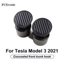2 Pcs/Set Front Engine Room Storage Hook Concealed Front Trunk Hook Interior Accessories Decoration For Tesla Model 3 2021