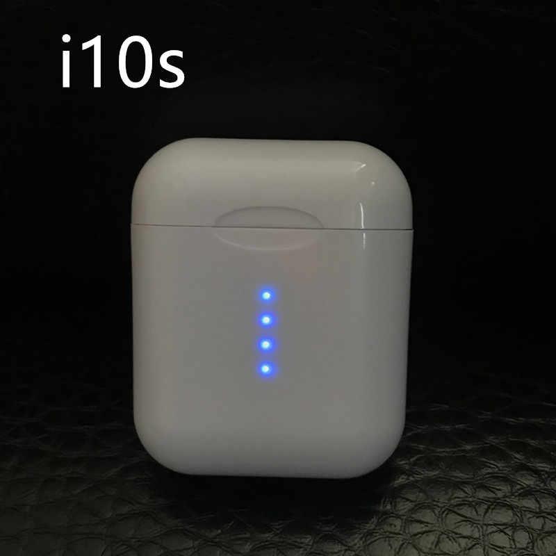 Orijinal i10 TWS kablosuz kulaklık Bluetooth 5.0 kulaklık dokunmatik kontrol C tipi kablosuz şarj HiFi müzik 3D ses kulakiçi