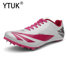 YTUK Outdoor Men Women Professional Track & Field Shoes Running Sneakers Black White Men sprint Running Race Spikes sports shoes