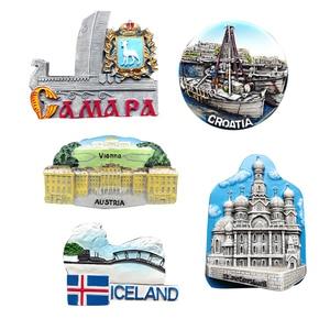 3D Steroe Fridge Magnets Russia St. Petersburg Austria Vienna Iceland Croatia Travel Souvenir Refrigerator Sticker Home Decor(China)