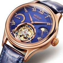 Лидирующий бренд, Мужские Оригинальные настоящие Tourbillon часы, многофункциональные, с двумя часовыми поясами, с Луной, фазой, светящиеся, мужские деловые часы