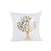 tree pattern white golden chair bed cushion cover 45*45cm no inner hot stamping cuscini decorativi pillow covers decorative X18