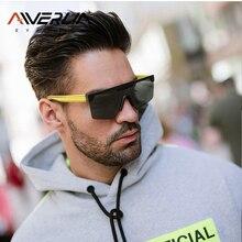 AIVERLIA Male Flat Top Sunglasses Men Women Sunglas