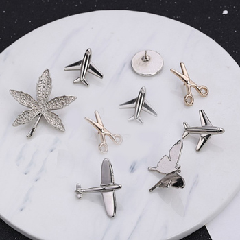 Vintage plane scissors Alloy Brooch butterfly Breastpin Unisex Lapel Pins Suit Shirt Collar Jewelry Accessories Collar Broches image
