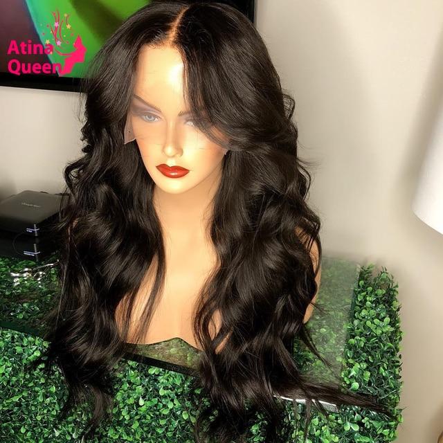 Pelucas de encaje transparente HD, Peluca de pelo humano Frontal ondulado para mujer de 13x6 pulgadas con encaje Frontal profundo, peluca suiza de encaje completo Remy 130%