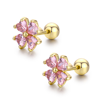 7colors Cute Heart CZ Stones Clover Flower Screw Back Stud Earrings For Women Baby Kids Girls.jpg 350x350 - 7colors Cute Heart CZ Stones Clover Flower Screw Back Stud Earrings For Women Baby Kids Girls Gold Color Piercing Jewelry Aros