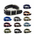 Премиум качество зулу нейлоновый ремень безопасности Nato синий/серый полосатый 20 мм 22 мм ремешок для часов мужские спортивные Военные Аксес...