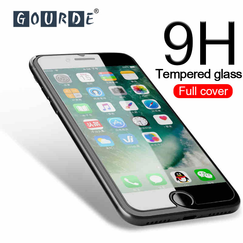 Gourde 9H herdet glass til iPhone 11Pro Max Premium skjermbeskytter for iPhone 8 7 6s Pluss Glassfilm for iphone XS Max XR X