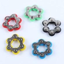 6 nós bicicleta corrente fivela fidget brinquedo alívio ansiedade alívio do estresse descompressão para crianças adultos dedo anel chave brinquedos