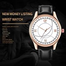 Diamond Retro Design Men Watches Luminous Business Quartz Leather Strap Male WristWatch Gift Clock Relogio Masculino