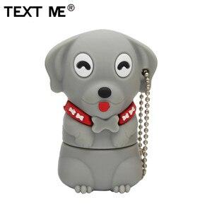 Image 2 - Napisz do mnie 64GB cartoon Mini pies pamięć usb 2.0 4GB 8GB 16GB 32GB pendrive na prezent U dysku