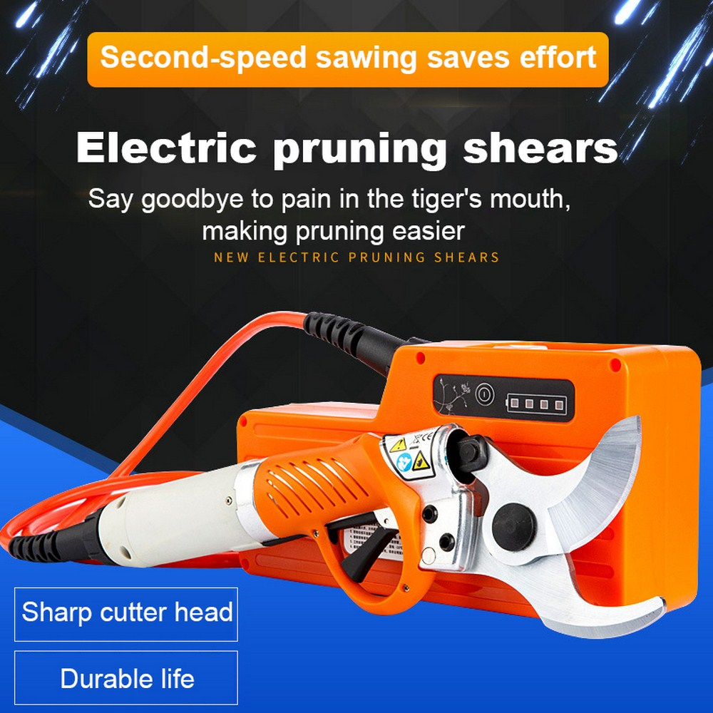 450W Electric Shears Cordless  Electric Garden Pruner 36V 4400mah Lithium Battery Pruning Shear Orchard Scissors For Fruit Tree