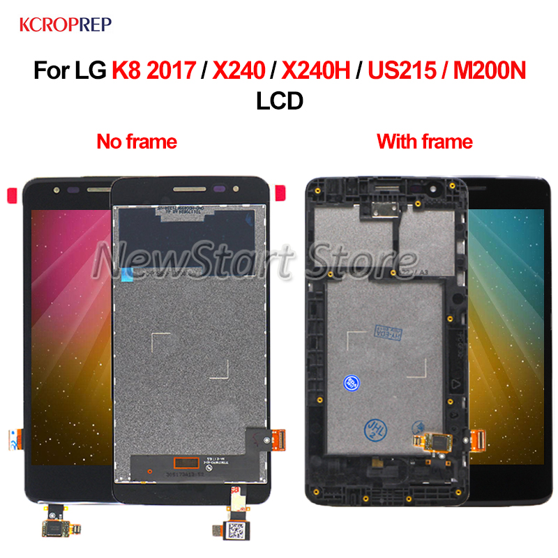For <font><b>LG</b></font> K8 2017 <font><b>LCD</b></font> Display Touch Screen Digitizer Assembly For <font><b>LG</b></font> <font><b>X240</b></font> X240H US215 M200N <font><b>lcd</b></font> Replacement Accessory 100% Tested image