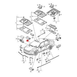 Image 5 - HONGGE LED Footwell אורות + כבל עבור גולף פאסאט אוקטביה מושב ליאון אלהמברה A4 A6 A7 A8 Q3 Q5 TT 3AD 947 409 3AD947409