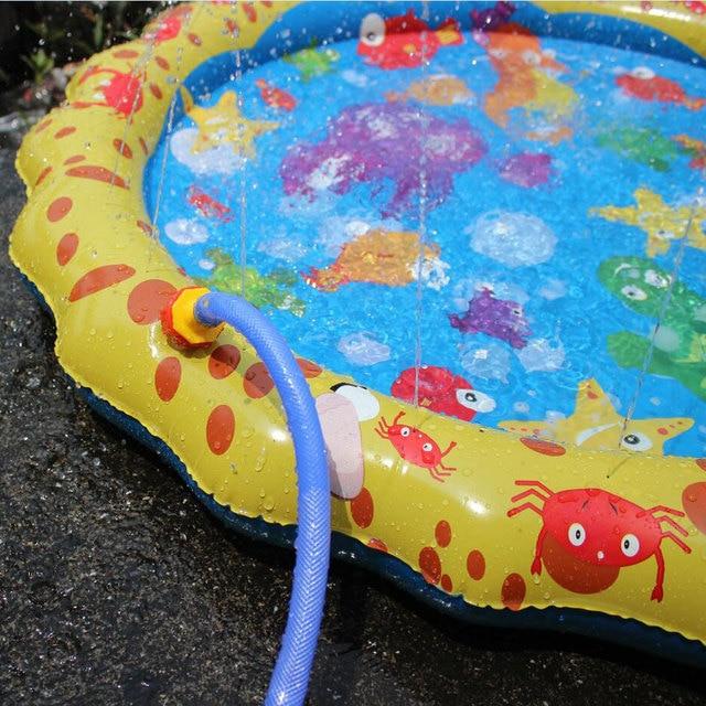 Piscina bebé salpicadura de agua estera de pulverización divertido jugar al agua piscina al aire libre juguete 3