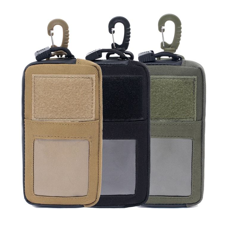 Mini Tactical Pack Hook-Backed EDC Pouchm Tactical Wallet Card Bag Outdoor Military Waist Bag For Hunting