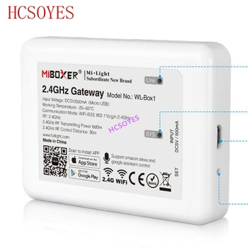 milight (iBox2 Upgraded version )WL-Box1 2.4GHz WiFi Smart Light /WiFi iBox Controller DC5V RF Remote wifi RGB light Wireless