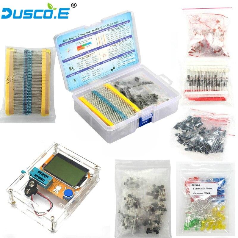 LCR T4 ESR T4 Mega328 Digital Transistor Tester Set Electronic Component Kit Diode Triode Capacitance MOS/PNP/NPN TO 92 Resistor Мультиметры      АлиЭкспресс