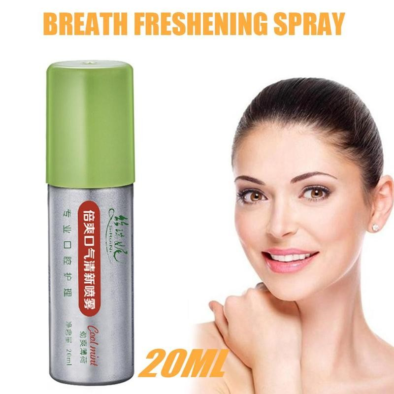 20ml Peppermint Breath Freshener Oral Spray Deodorizing Care Spray Mint Bad Odor Halitosis Treatment Clean Mouth Drop Shipping