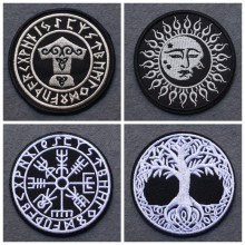Patch brodé Viking à rayures, pour vêtements, Badges pour vêtements, style Punk, à faire soi-même, décor