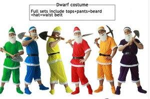 Image 2 - Festa di Santa Sette Nani Neve Costume Fata Elf Adulti Bambini Bambini Carnevale di Scena Halloween Gruppo di Famiglia Vestito Per Gli Uomini
