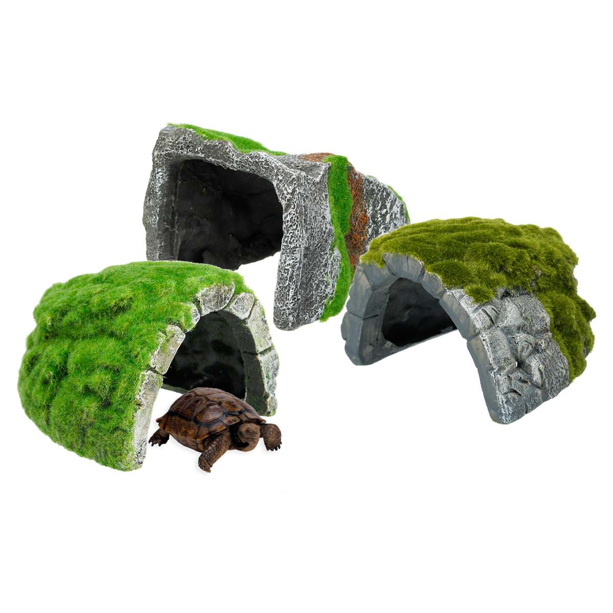 Resin Reptiles Habitat Hiding Cave Fish Turtle Tank Basking Decoration Ornament Tortoise Terrace Lizard Scorpion Hideout House